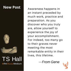 spiritual awakening and awareness happens in an instant
