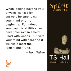 spirit shorts - be still and know spirit with ts hall - the stoic medium