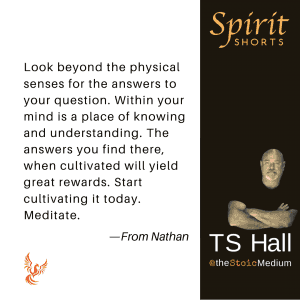 spiritshorts - thoughts are things, the seeds of your future by ts hall the stoic medium