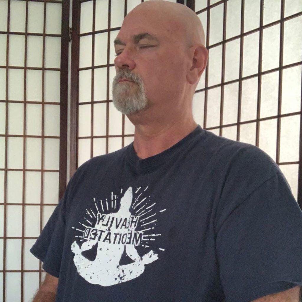 rev ts hall @theStoicMedium meditating headshot